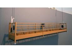 Sàn treo thao tác - thang treo lắp kính