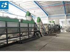 Dây chuyền giặt tái chế nhựa đầu ra cao 2000KG / h