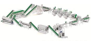 Máy tái chế nghiền chai PET phế thải