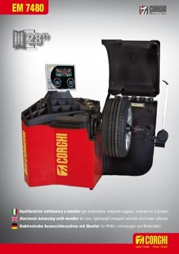 Thiết bị cân bằng lốp tự động Corghi EM 7480